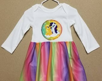 RAINBOW BABY DRESS. All Sizes.