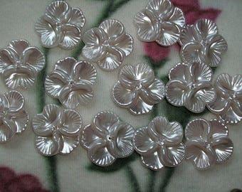 5 beads, flower, 2,7 x2, 7cm (249)