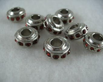 Metal bead, 8 pieces  (921)