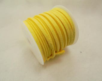 5 m Art suede cord, 3mm, yellow