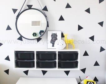 4inch, set of 40 Triangles - Triangle Wall Decal, Nursery Wall Decal, Pattern Wall Decal, Playroom Wall Decal, Play Room Wall Decal, 11-0002