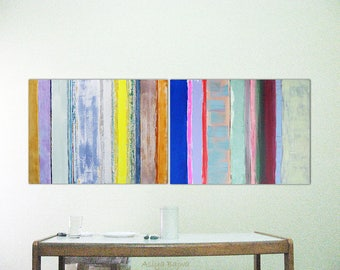 """Original Abstract painting Acrylic painting Modern abstract art 32 x 24""""each stripes Free Shipping Everywhere"""