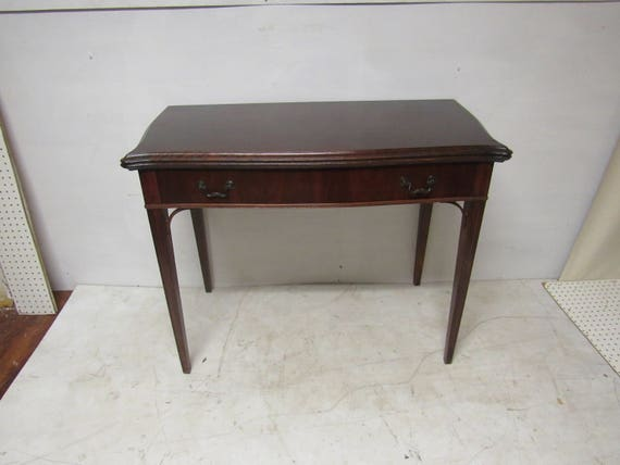 Mahogany extension table console to game or dining table for Table insert th