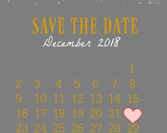 Save the Date Wedding Announcement Customized for you
