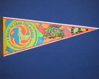 "THE PSYCHEDELIC ERA Rock and Roll Hall of Fame Pennant ""I Want to Take You Higher"" 1997"