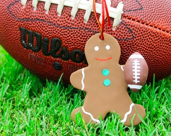 Football Christmas tree ornament Gingerbread man Football Christmas decoration Christmas gift for football players Football holiday decor