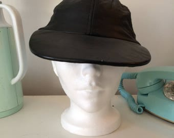 1980 leather hat