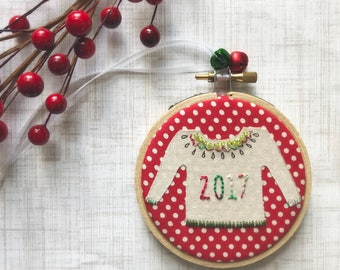"""READY TO SHIP! 3"""" ornament ugly sweater Holiday exchange gift office party exchange white elephant"""
