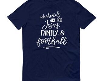 Jesus, Family & Football tshirt