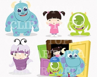 50% OFF SALE Monsters Digital Clipart for Personal and Commercial Use / INSTANT Download