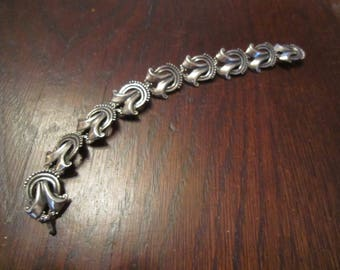 Margot de Taxco Sterling Bracelet with Ribbons
