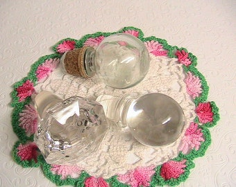 Stoppers, Lot of 3 Large Glass Stoppers
