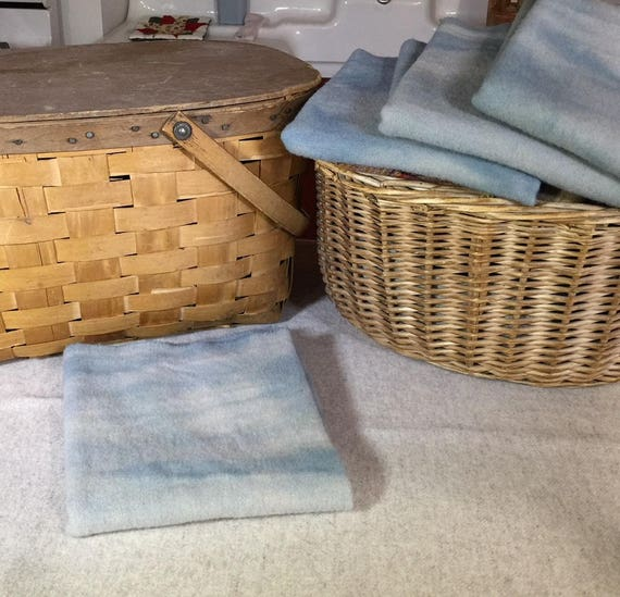 Irish Sky Blue, Hand-Dyed Wool Fabric for Rug Hooking, Applique, Penny Rugs, Fiber Arts,Fat Quarter Yard W321