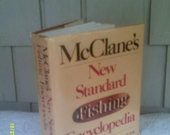 Vintage McClanes Fishing Encyclopedia, Angling Guide, Large Fishing Book, Fishing Reference