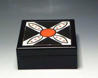 Keepsake Box with Hand Painted Ceramic Tile