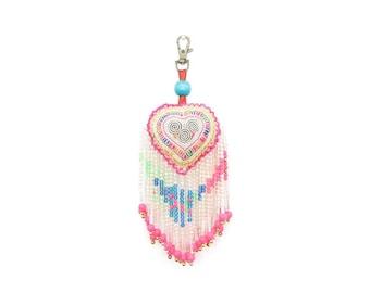 Heart and Beads Zipper Pull / Key Chain Fair Trade - Thailand