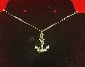 Marine/Navy Anchor Cremation Urn Necklace & fill kit-Mourning-funeral-ashes-nautical