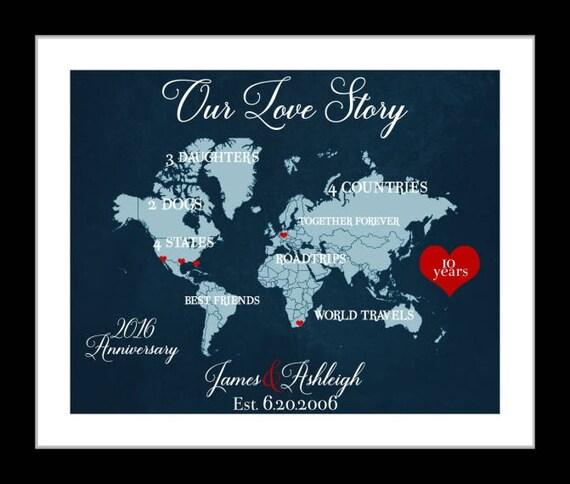 Us Memory Map Custom Anniversary Gift Personalized Us Travel - Personalized us travel map