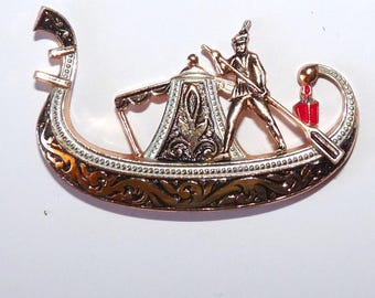 cabochon gondola in Venice gondolier inlay to create Italy boat drakkar for jewelry craft making