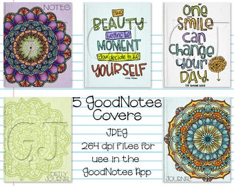 Digital Planner or Journal Covers for iPad GoodNotes - Set 2
