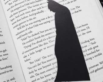 Batman - The Dark Knight - Hand-cut Silhouette Bookmark, batman comic, batman silhouette, batman bookmark, geek gift, mens stocking stuffer