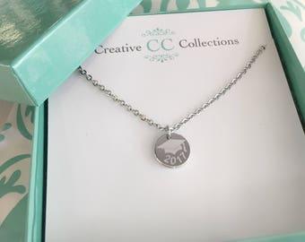 Personalized GRADUATION necklace Graduation gifts grad gift graduation 2017 custome graduation necklace