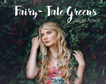 Fairytale greens Photoshop Action