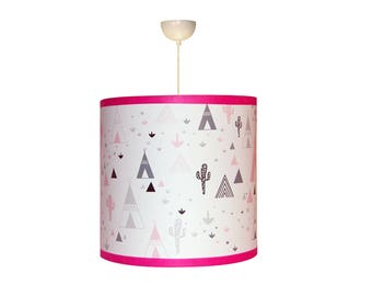 "Lampshade girl ""in my pink teepee"""