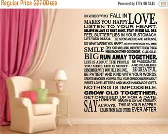 EVERYTHING IS 20% OFF Do More of What Makes You Happy Wall Decal