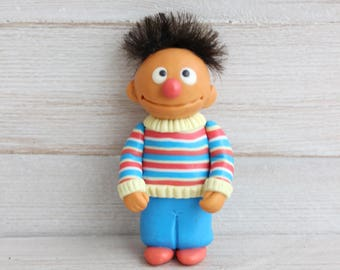 Ernie, Sesame Street character, collectible figurine, art doll