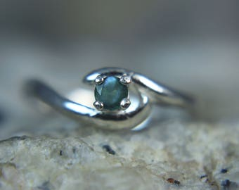 ALEXANDRITE - Natural & Genuine Alexandrite PETITE June Birthstone or Pinky Sterling Silver Ring! Free Shipping!