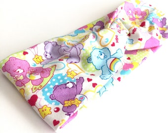 Care Bear Headband, Knot Headband, Stretchy Headband