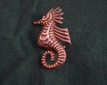 vintage Sterling seahorse pin.