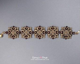 Zoliduos Beading Pattern - Bracelet Beading Pattern - Moorish Tiles Bracelet TUTORIAL - Digital File