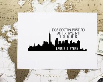 Personalized Address Stamp, Custom Return Address Stamp, Rubber Stamp Address, Self Inking Stamp - CA725