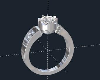 Batman Bezel Engagement Ring