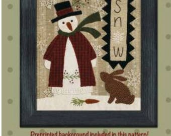 """A Bonnie Sullivan pattern called """"Snow"""".  A great snowman for that special gift."""