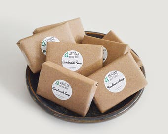 45 Assorted Soap Favors | Cold Process Hand and Body Mini Wash Bars, Hostess Basket, Bridal Party, Wedding Gifts, Homemade Stocking Stuffers