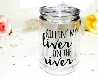 River Trip Mason Jar