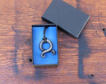 Hand Forged Troll Cross - Hand forged Iron Jewelry