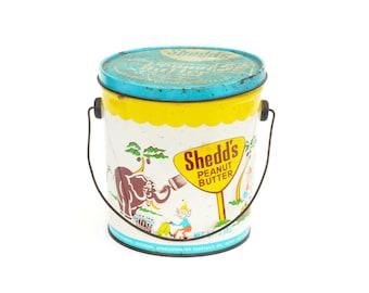 Shedd's Peanut Butter Tin Vintage Retro