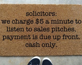 Solicitors Be Warned Doormat