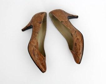 Vintage Shoes // 50s Snake Skin Heels