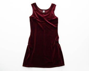 Vintage dress // 90's red velvety mini dres