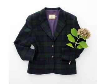 Vintage Blazer // Laura Biagiotti Plaid Coat