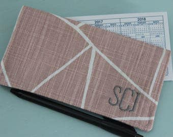 Custom Checkbook Cover, Personalized Monogrammed check book, Coworker Gift, Coupon/Receipt, Gift for Her, Stocking Stuffer, Gift under 25