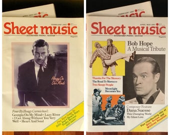 LOT of Two (2) Vintage 1987 SHEET MUSIC Magazines Standard Piano / Guitar