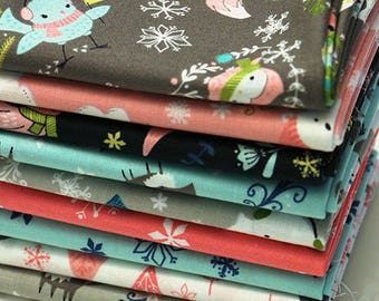 Winter Wonderland Fat Quarter Bundle, Camelot Fabrics, woven fabric bundle, quilting bundle, Christmas fabric, winter fabric bundle