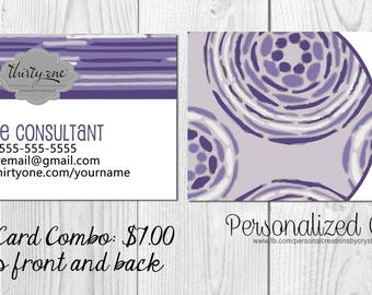 Business Card Bundle made for Thirty-One Gifts - Geo Pop Stripe Inspired - New Fall Print