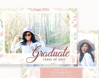 High School Graduation, Senior Announcement, Marketing Template, Printable Announcement, Graduation Template, Graduation Invitation c157